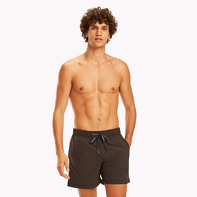 TOMMY HILFIGER Drawstring Swim Shorts - TANGO RED - TOMMY HILFIGER Men - main image