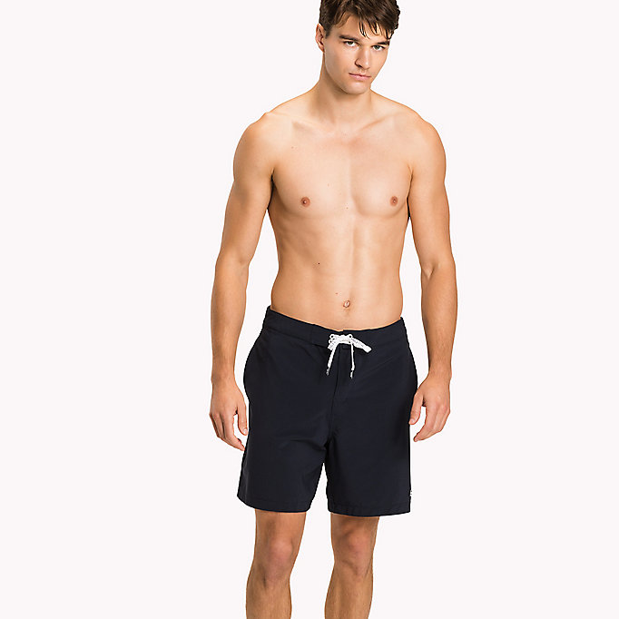 TOMMY HILFIGER Logo Drawstring Board Shorts - DEEP MINT - TOMMY HILFIGER Men - main image