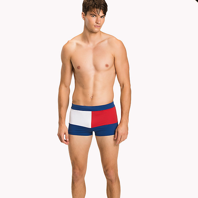 TOMMY HILFIGER Flag Design Swim Trunks - NAVY BLAZER - TOMMY HILFIGER Clothing - main image
