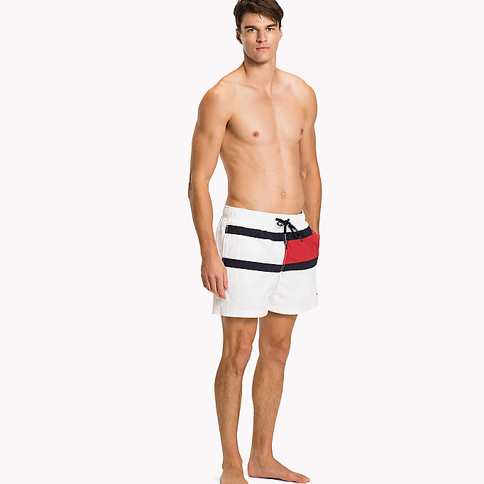 TOMMY HILFIGER Flag Design Swim Shorts - TANGO RED - TOMMY HILFIGER Men - main image