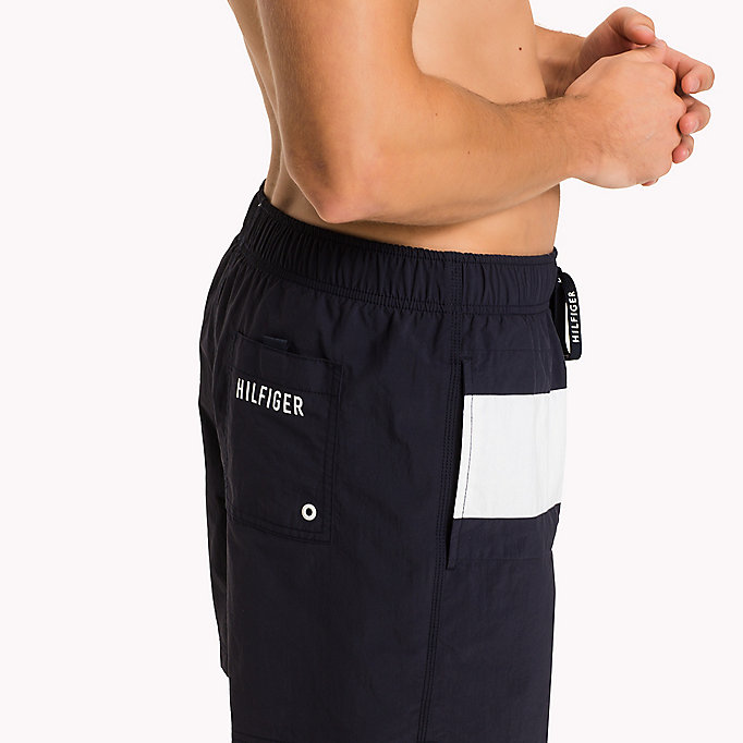 TOMMY HILFIGER Flag Design Swim Shorts - PVH BLACK - TOMMY HILFIGER Men - detail image 2