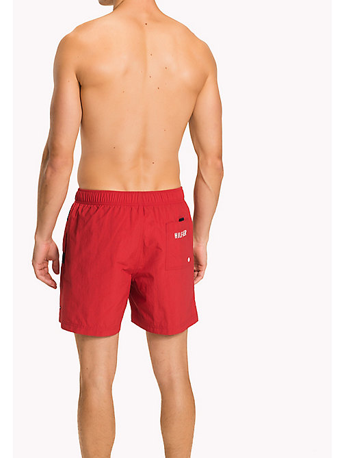 TOMMY HILFIGER Flag Design Swim Shorts - TANGO RED - TOMMY HILFIGER Swimwear - detail image 1