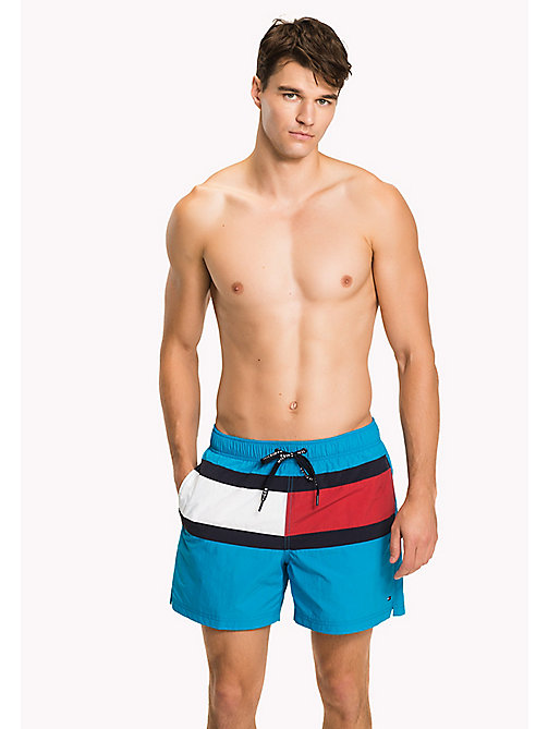 TOMMY HILFIGER Flag Design Swim Shorts - BLUE DANUBE - TOMMY HILFIGER Swimwear - main image