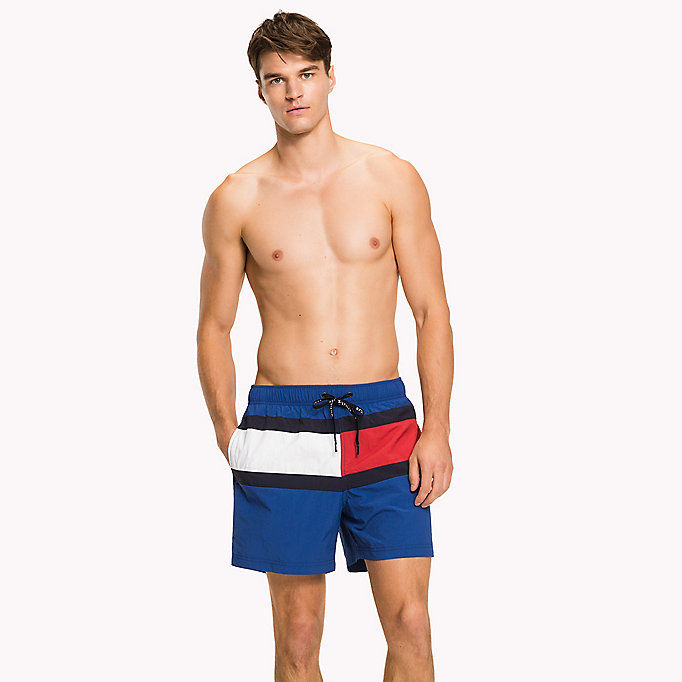 TOMMY HILFIGER Flag Design Swim Shorts - BLUE DANUBE - TOMMY HILFIGER Men - main image