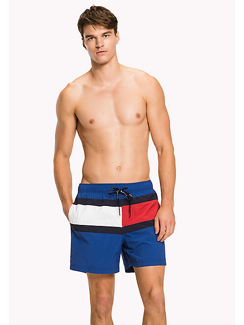 TOMMY HILFIGER Flag Design Swim Shorts - TRUE BLUE - TOMMY HILFIGER Swimwear - main image
