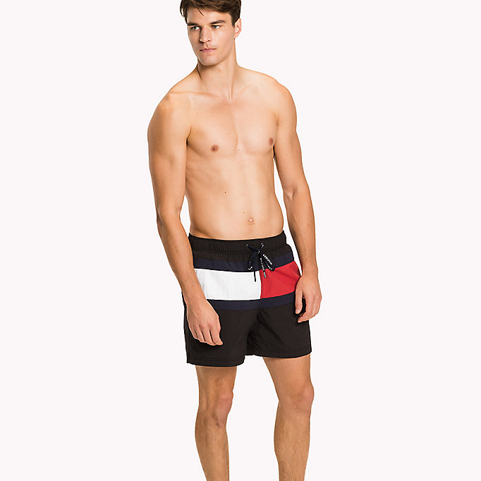 TOMMY HILFIGER Flag Design Swim Shorts - BRIGHT WHITE - TOMMY HILFIGER Men - main image