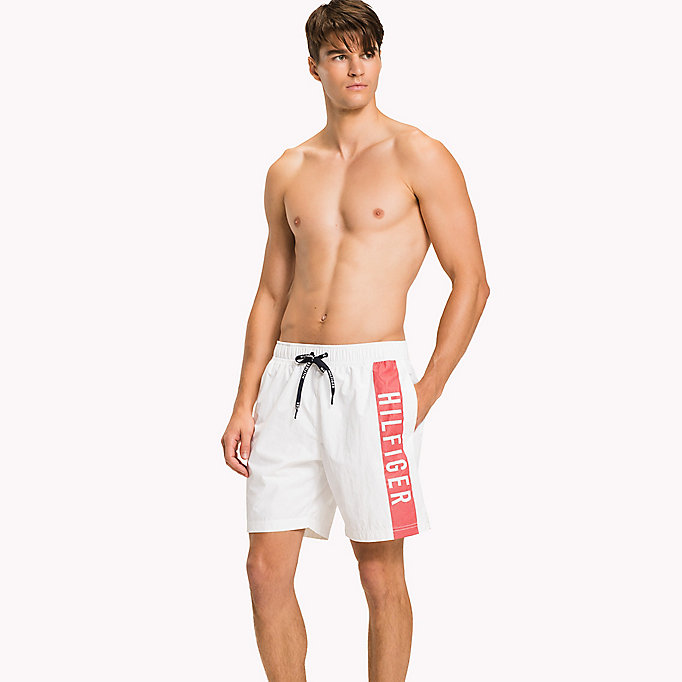 TOMMY HILFIGER Long Leg Swim Shorts - CARROT - TOMMY HILFIGER Men - main image