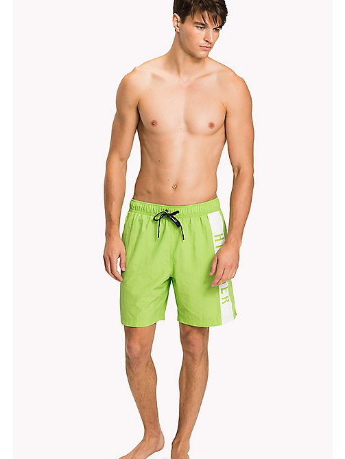 TOMMY HILFIGER Long Leg Swim Shorts - GREEN FLASH - TOMMY HILFIGER Swimwear - main image