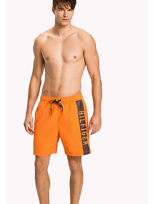 TOMMY HILFIGER Long Leg Swim Shorts - CARROT - TOMMY HILFIGER Swimwear - main image