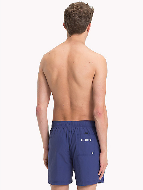 TOMMY HILFIGER Nylon Logo Medium Swim Shorts - TWILIGHT BLUE - TOMMY HILFIGER Swimwear - detail image 1