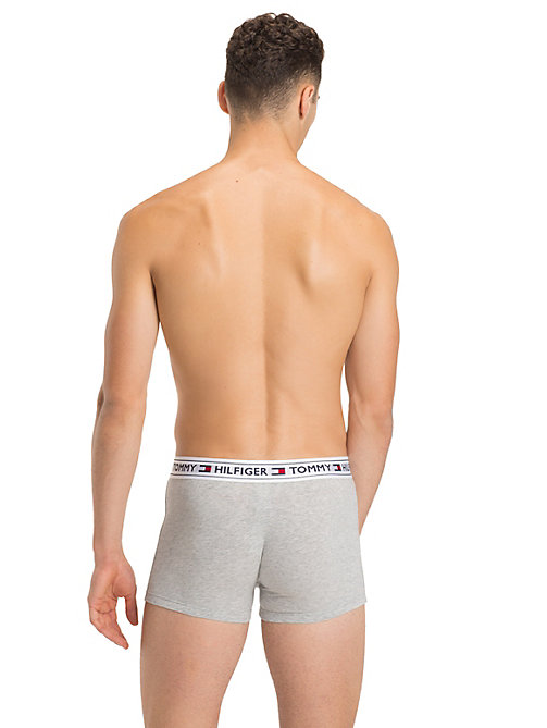 TOMMY HILFIGER Tommy Hilfiger Waistband Trunks - GREY HEATHER - TOMMY HILFIGER Trunks - detail image 1