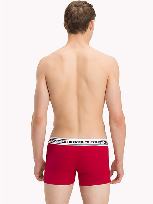 TOMMY HILFIGER Tommy Hilfiger Waistband Trunks - TANGO RED - TOMMY HILFIGER Trunks - detail image 1