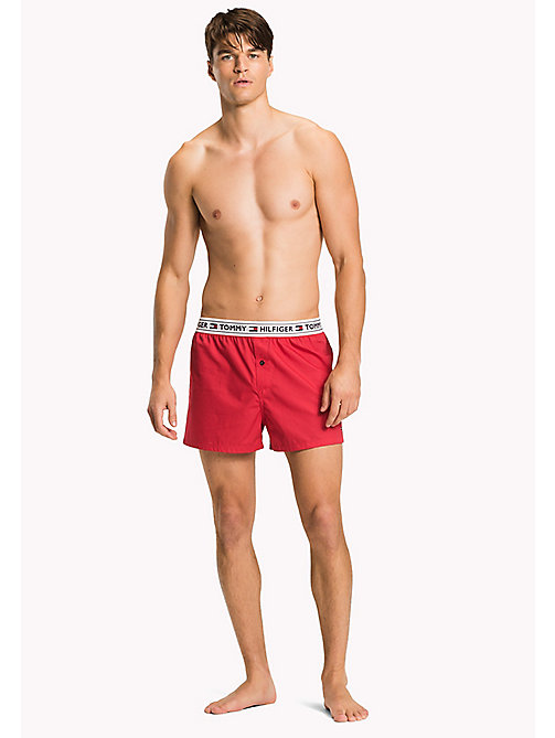TOMMY HILFIGER Woven Boxer Shorts - TANGO RED - TOMMY HILFIGER Clothing - main image
