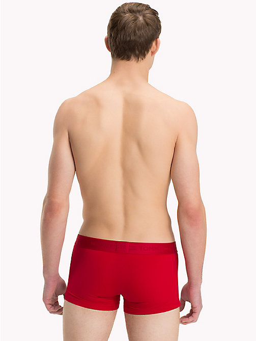 TOMMY HILFIGER Tonal Waistband Trunks - TANGO RED - TOMMY HILFIGER Trunks - detail image 1