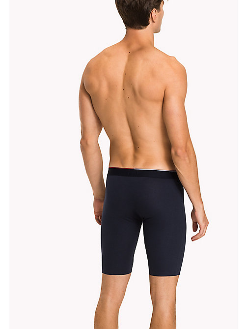 TOMMY HILFIGER Nylon Jacquard Cyclist Trunks - NAVY BLAZER - TOMMY HILFIGER Clothing - detail image 1