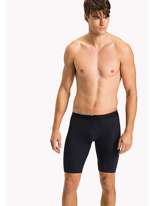 TOMMY HILFIGER Nylon Jacquard Cyclist Trunks - NAVY BLAZER - TOMMY HILFIGER Men - main image