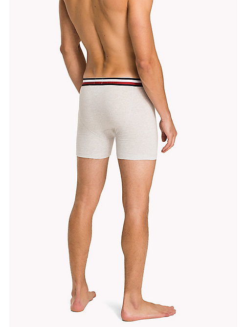 TOMMY HILFIGER Eco Fresh Cotton Longline Trunks - IVORY HEATHER - TOMMY HILFIGER Clothing - detail image 1