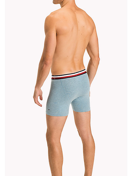 TOMMY HILFIGER Eco Fresh Cotton Longline Trunks - INFINITY HEATHER - TOMMY HILFIGER Clothing - detail image 1