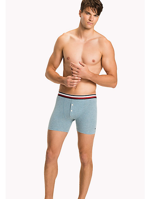 TOMMY HILFIGER Eco Fresh Cotton Longline Trunks - INFINITY HEATHER - TOMMY HILFIGER Clothing - main image