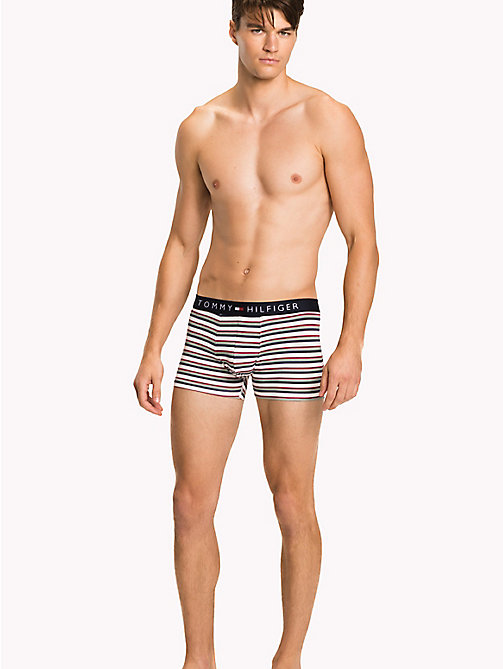 TOMMY HILFIGER 3-Pack Cotton Trunks - SNOW WHITE/ANEMONE/ICEBERG GREEN - TOMMY HILFIGER Packs - main image