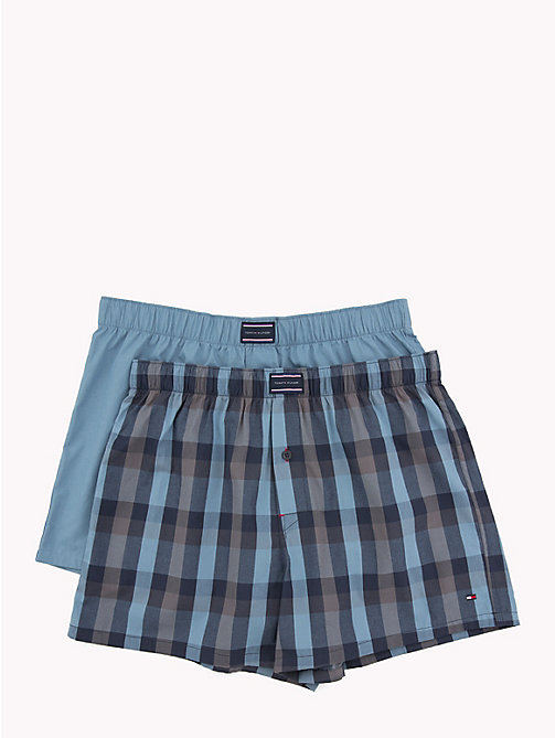 TOMMY HILFIGER 2-Pack Cotton Poplin Boxers - BLUE HEAVEN/BLUE HEAVEN - TOMMY HILFIGER Packs - main image