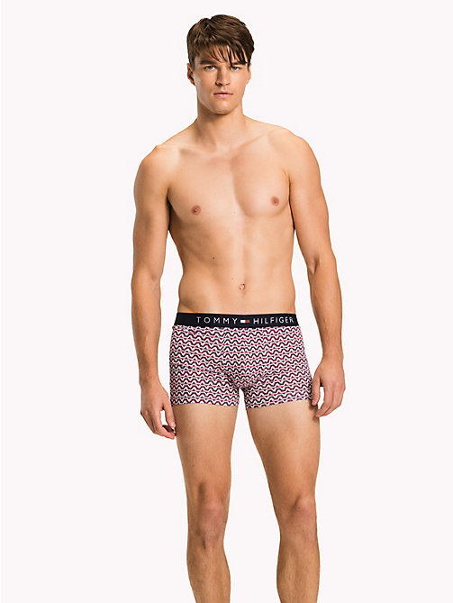 TOMMY HILFIGER 2-Pack Cotton Trunks - ANEMONE / VIVID BLUE - TOMMY HILFIGER Packs - main image
