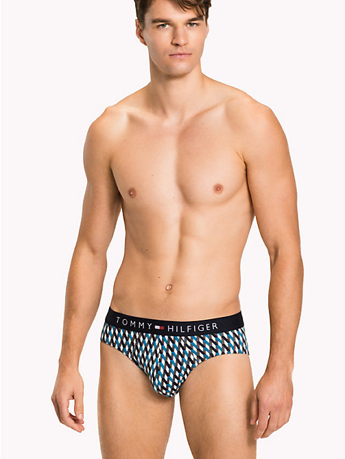 TOMMY HILFIGER 3-Pack Cotton Briefs - VIVID BLUE/NAVY BLAZER/WHITE - TOMMY HILFIGER Underwear & Swimwear - main image