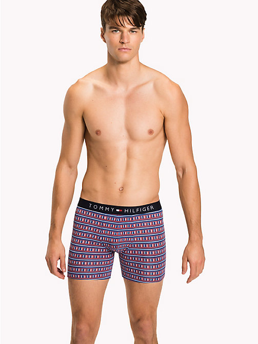 TOMMY HILFIGER 2-Pack Boxer Briefs - BLUE PRINT / CLASSIC BLUE - TOMMY HILFIGER Packs - main image