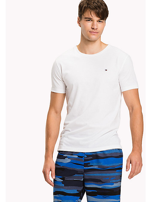 TOMMY HILFIGER Cotton Lounge T-Shirt - WHITE - TOMMY HILFIGER Pyjama Tops - main image