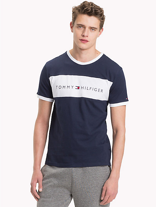 TOMMY HILFIGER Cotton Lounge T-Shirt - NAVY BLAZER - TOMMY HILFIGER Pyjama Tops - main image