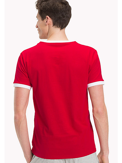 TOMMY HILFIGER Cotton Lounge T-Shirt - TANGO RED - TOMMY HILFIGER Pyjama Tops - detail image 1