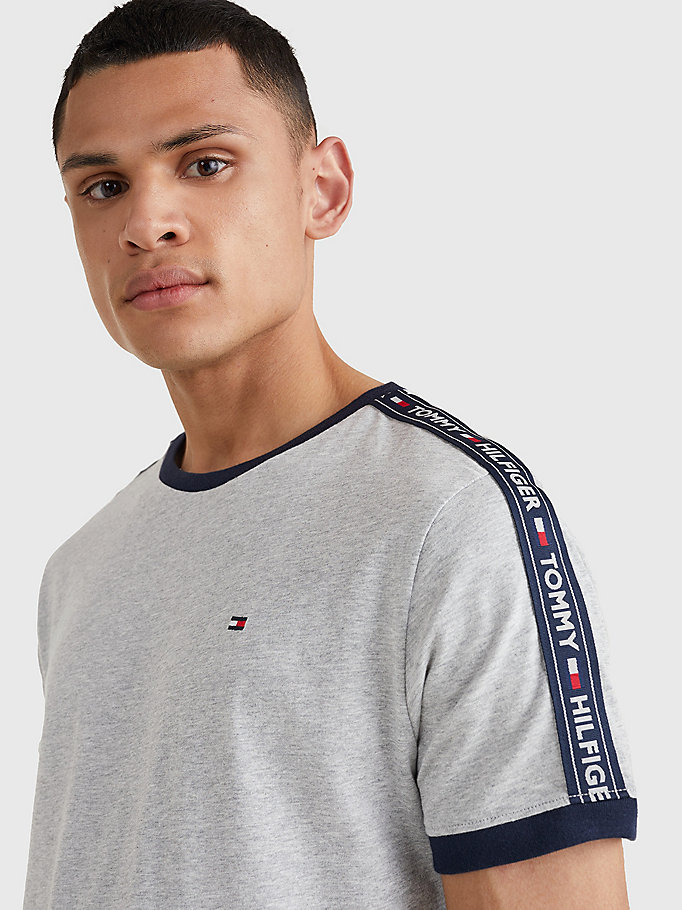 TOMMY HILFIGER Logo Cotton Lounge T-Shirt - TANGO RED - TOMMY HILFIGER Clothing - detail image 2