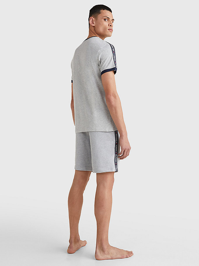 TOMMY HILFIGER Logo Cotton Lounge T-Shirt - TANGO RED - TOMMY HILFIGER Clothing - detail image 3