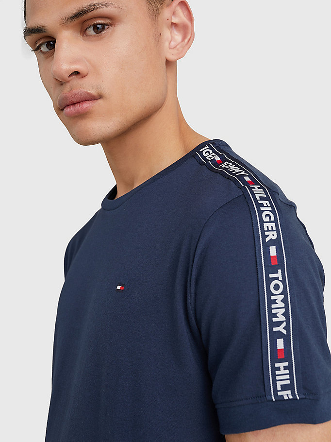 TOMMY HILFIGER Logo Cotton Lounge T-Shirt - GREY HEATHER - TOMMY HILFIGER Clothing - detail image 2
