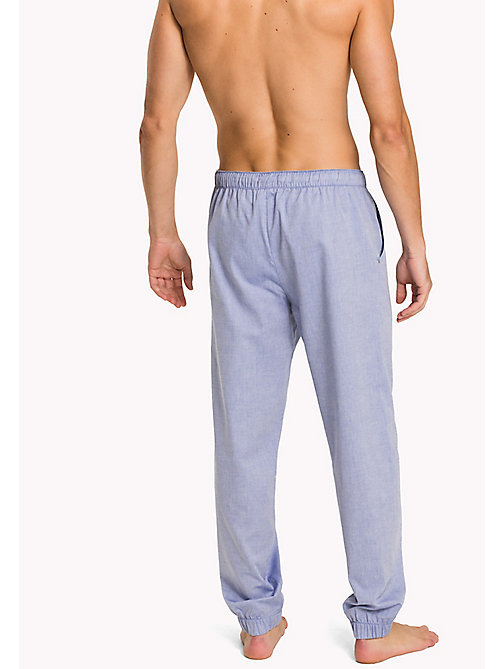 TOMMY HILFIGER Oxford Cotton Pyjama Trousers - CHAMBRAY BLUE - TOMMY HILFIGER Pyjama Bottoms - detail image 1