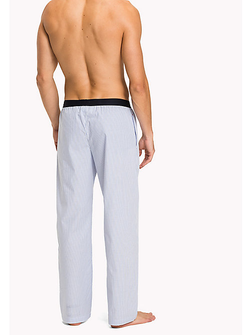 TOMMY HILFIGER Woven Cotton Pyjama Trousers - CHAMBRAY BLUE - TOMMY HILFIGER Pyjama Bottoms - detail image 1