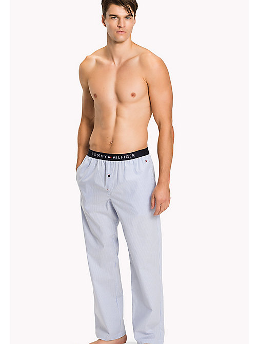TOMMY HILFIGER Woven Cotton Pyjama Trousers - CHAMBRAY BLUE - TOMMY HILFIGER Underwear & Swimwear - main image