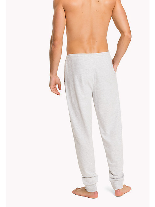 TOMMY HILFIGER Cotton Terry Sweatpants - WHITE HEATHER BC01 - TOMMY HILFIGER Pyjama Bottoms - detail image 1