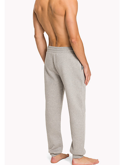 TOMMY HILFIGER Bonded Jersey Sweatpants - GREY HEATHER - TOMMY HILFIGER Pyjama Bottoms - detail image 1