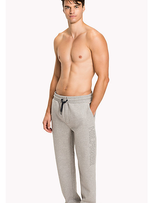TOMMY HILFIGER Bonded Jersey Sweatpants - GREY HEATHER - TOMMY HILFIGER Pyjama Bottoms - main image
