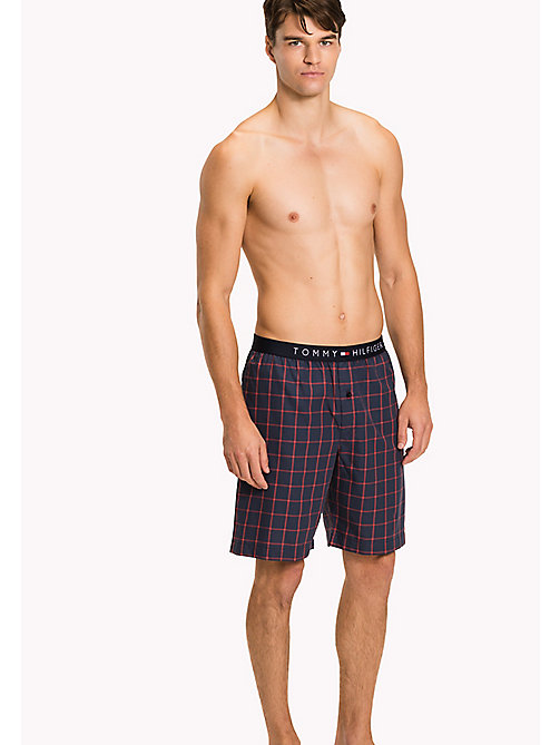TOMMY HILFIGER Cotton Twill Lounge Shorts - NAVY BLAZER - TOMMY HILFIGER Pyjama Bottoms - main image
