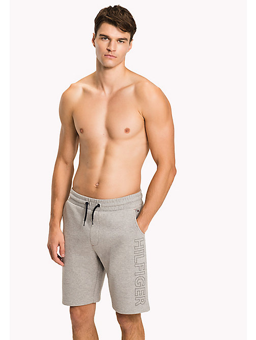 TOMMY HILFIGER Pantaloncini lounge in jersey accoppiato - GREY HEATHER - TOMMY HILFIGER Pantaloni - immagine principale
