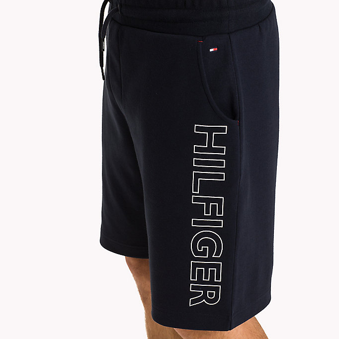 TOMMY HILFIGER Bonded Jersey Lounge Shorts - GREY HEATHER - TOMMY HILFIGER Men - detail image 2