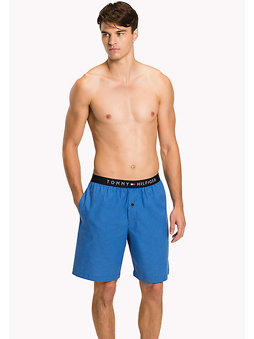 TOMMY HILFIGER Cotton Check Lounge Shorts - CLASSIC BLUE - TOMMY HILFIGER Pyjama Bottoms - main image