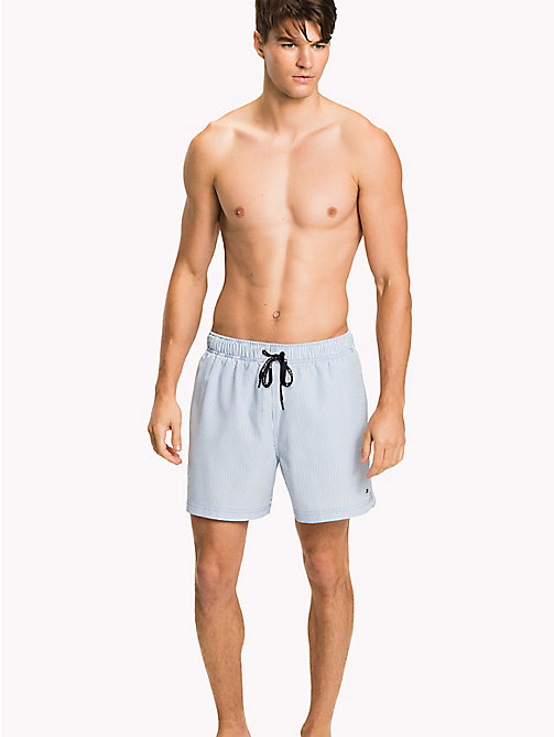 TOMMY HILFIGER Stripe Seersucker Swim Shorts - SILVER LAKE - TOMMY HILFIGER Swim styles - main image