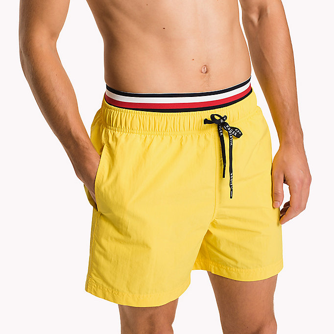 TOMMY HILFIGER Double Waistband Swim Shorts - NAVY BLAZER - TOMMY HILFIGER Men - detail image 2