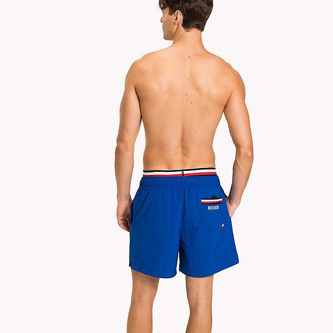TOMMY HILFIGER Double Waistband Swim Shorts - DANDELION - TOMMY HILFIGER Men - detail image 1