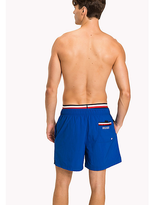 TOMMY HILFIGER Double Waistband Swim Shorts - LAPIS BLUE - TOMMY HILFIGER Swimwear - detail image 1
