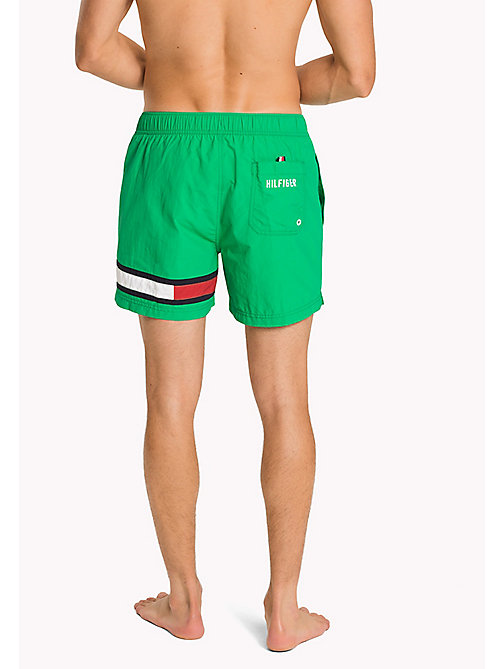 TOMMY HILFIGER Flag Leg Swim Shorts - DEEP MINT - TOMMY HILFIGER Swim styles - detail image 1