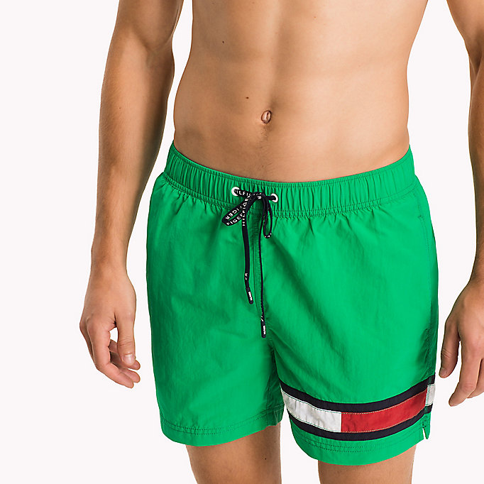 TOMMY HILFIGER Flag Leg Swim Shorts - BLACK - TOMMY HILFIGER Men - detail image 2